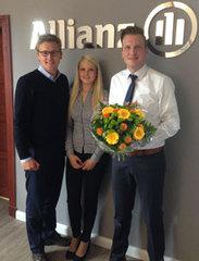 Foto (von links): Tobias Brokop (GSU), Lisa Scheiner (Mitarbeiterin), Thomas Heyen